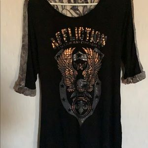Affliction tunic top